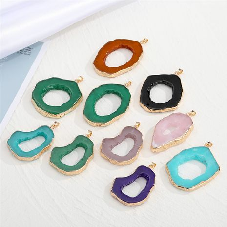 new exaggerated personality irregular hollow resin necklace  NHGO281151's discount tags