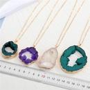 exaggerated personality imitation agate large pendant necklace  NHGO281160