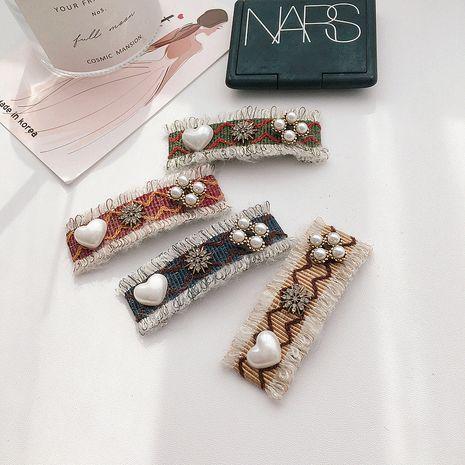 Pince à cheveux carrée diamant coréen NHHI281216's discount tags