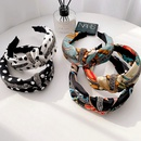dot printing imitation satin diamondinlaid headband NHHI281220