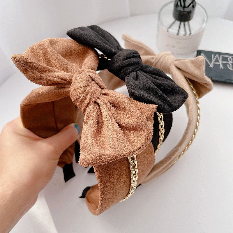 suede knot bow allmatch headband NHHI281226