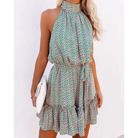floral print halter neck dress  NHJG281270's discount tags