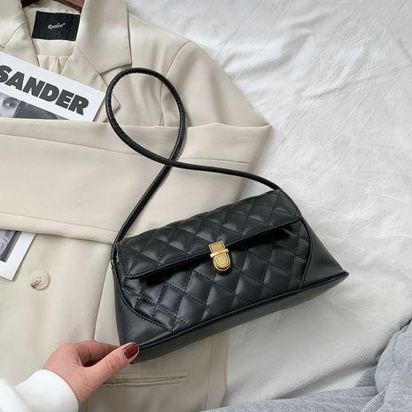 bolso de hombro de rombo de moda de nueva textura NHRU281311's discount tags