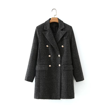 women's new lapel double-breasted button coat  NHAM281411's discount tags