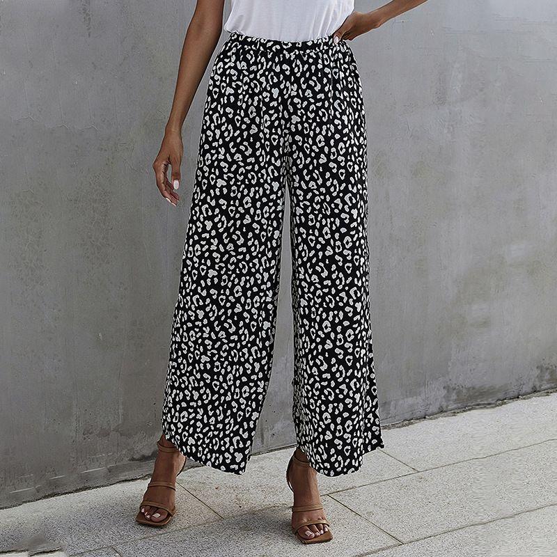 Loose High Waist Casual Wide Leg Pants  NHDF281472