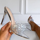 new  transparent crystal highheel pointed stiletto sandals  NHSO281507