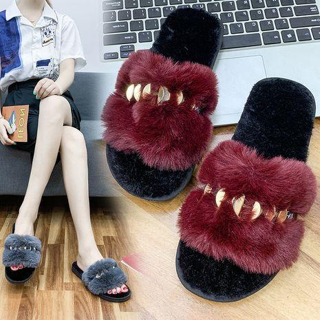 nuevas zapatillas gruesas de felpa NHPE281550's discount tags