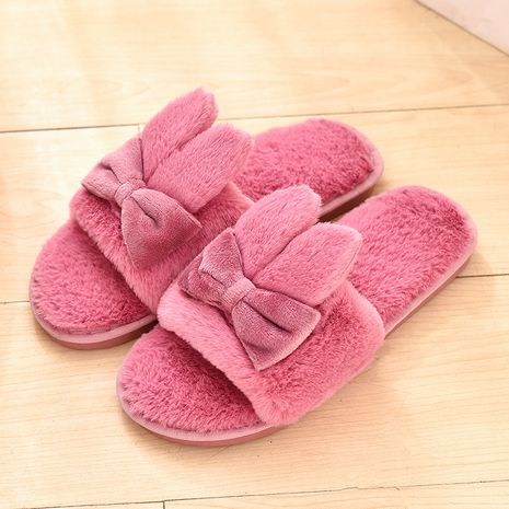 Zapatillas de orejas de conejo coreanas de felpa nueva casa NHPE281552's discount tags