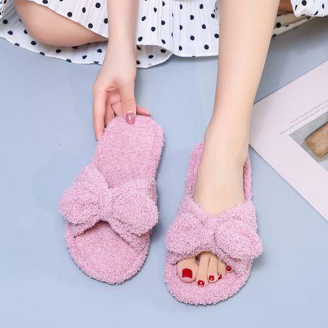 nuevas zapatillas de felpa con lazo lindo de lana de peluche pequeño NHPE281560's discount tags