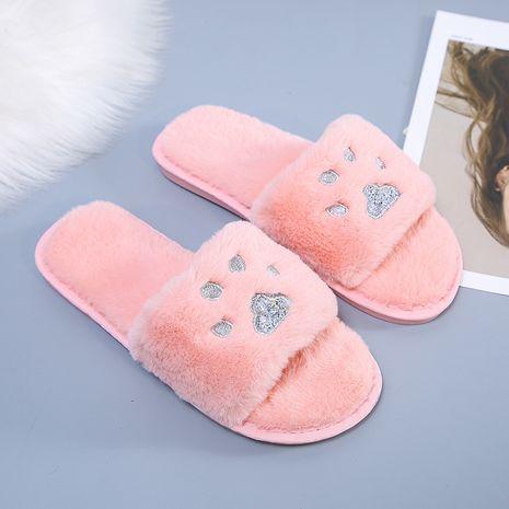 nuevas zapatillas de felpa abiertas NHPE281561's discount tags