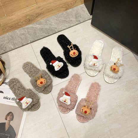Nuevas zapatillas de algodón de lana de cordero de ciervo de Santa Claus de dibujos animados NHPE281569's discount tags