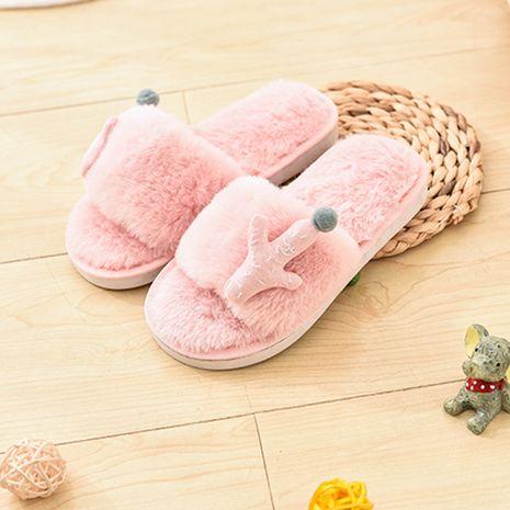 zapatillas de felpa de bebé de dibujos animados de algodón para niños nuevos NHPE281580's discount tags