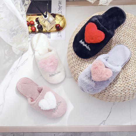 zapatillas de felpa bordadas de nueva moda NHPE281589's discount tags