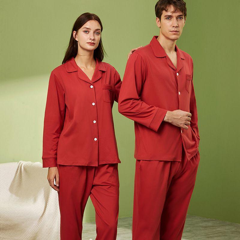 pure cotton longsleeved cardigan  pajamas suit  NHJO281634