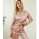 silk longsleeved vneck cardigan pajamas NHJO281639