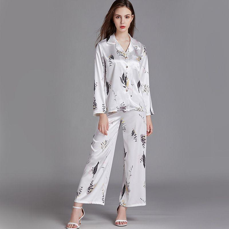 silk longsleeved large size loose pajamas  NHJO281640