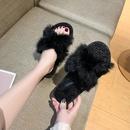 new   rabbit fur cross  fashion lamb fur slippers NHPE281648