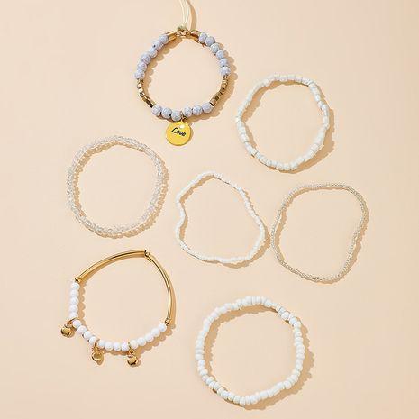 bracelet créatif avec pendentif pomme de fruits perles de riz blanc NHGY281720's discount tags