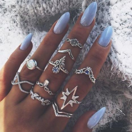 new  retro  diamond starry sky  lightning ring set  NHGY281714's discount tags
