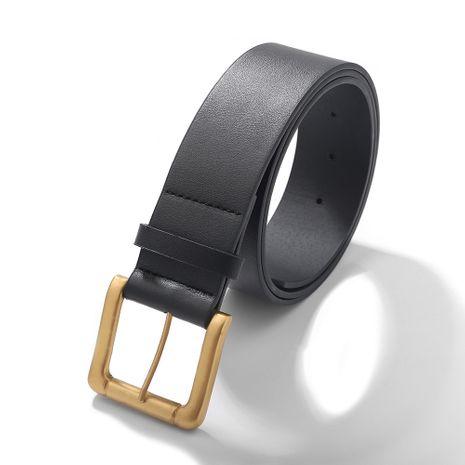 Cinturón de hebilla simple casual de cuero de mujer coreana NHJQ281649's discount tags
