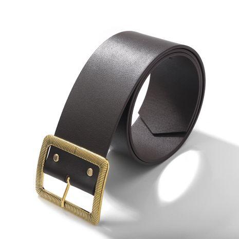 geometric buckle fashion trend decoration PU  belt NHJQ281650's discount tags