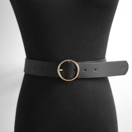 cinturón de hebilla de pin de negocios casual retro simple NHJQ281654's discount tags