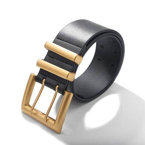 Cinturón con hebilla de ojo de cuero PU NHJQ281652's discount tags