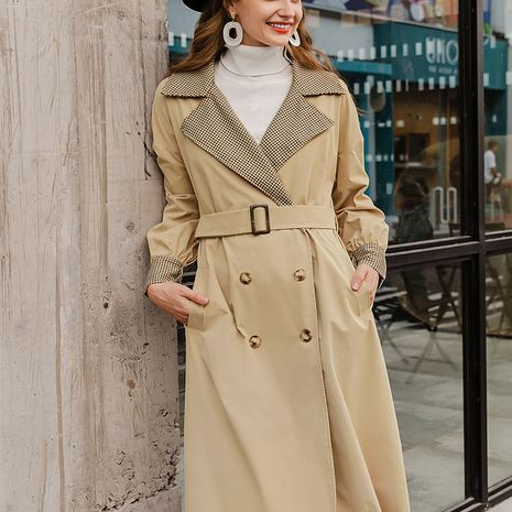 Fashion sexy solid color long trench coat NHDE281707's discount tags