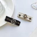 pearl  rhinestone wild geometric edge clip  NHWF281755