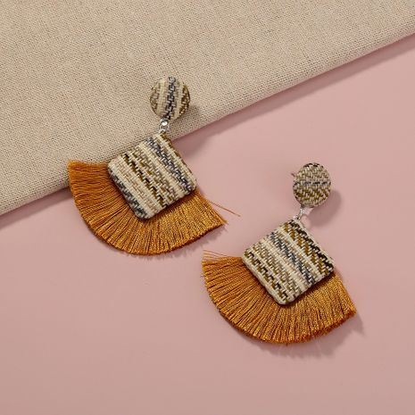 bohemian tassel fabric exaggerated earrings NHAN281766's discount tags