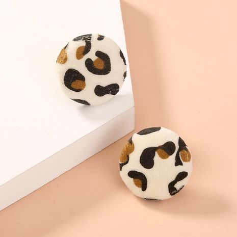 leopard print contrast color earrings NHAN281769's discount tags
