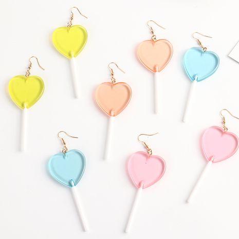 boucles d'oreilles sucette coeur couleur bonbon NHNZ281791's discount tags