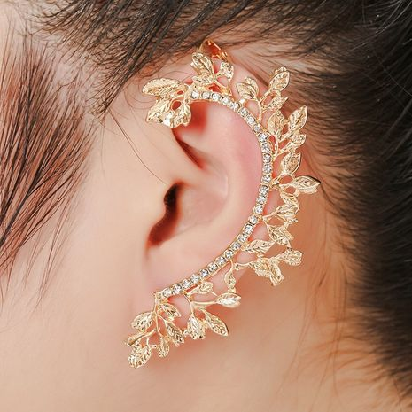exquisite leaf hypoallergenic diamond ear clip  NHYE281795's discount tags