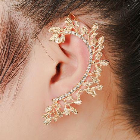 clip d'oreille en diamant hypoallergénique feuille exquise NHYE281795's discount tags