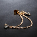 exaggerated zipper tassel diamondstudded hypoallergenic ear clip NHYE281796