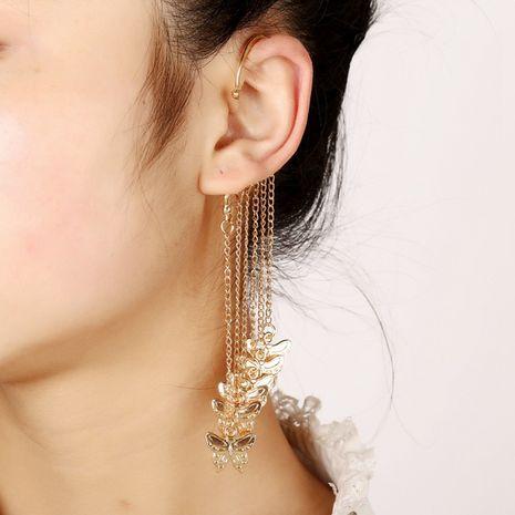 boucles d'oreilles papillons à pompons longs NHYE281798's discount tags