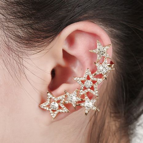 crystal star exaggerated earrings  NHYE281803's discount tags