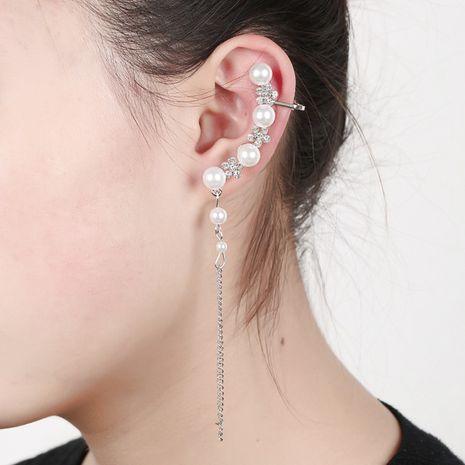 clip d'oreille en forme de pampille de flocon de neige perlé NHYE281807's discount tags