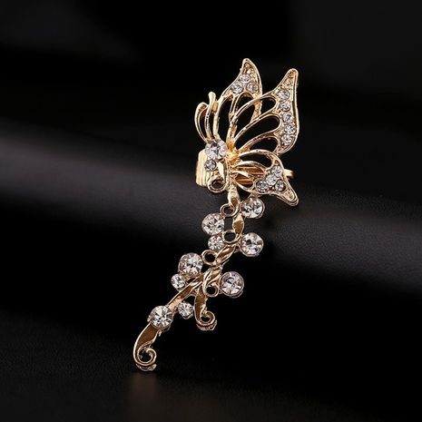 Exquisite zircon fashion diamond butterfly-shaped ear clip  NHYE281808's discount tags