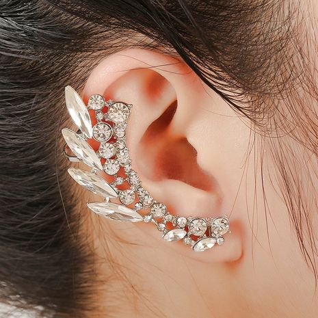 punk hollow alloy diamond ear bone clip  NHYE281810's discount tags