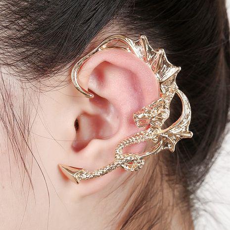 clips d'oreille hypoallergéniques exagérés en forme de dragon NHYE281811's discount tags
