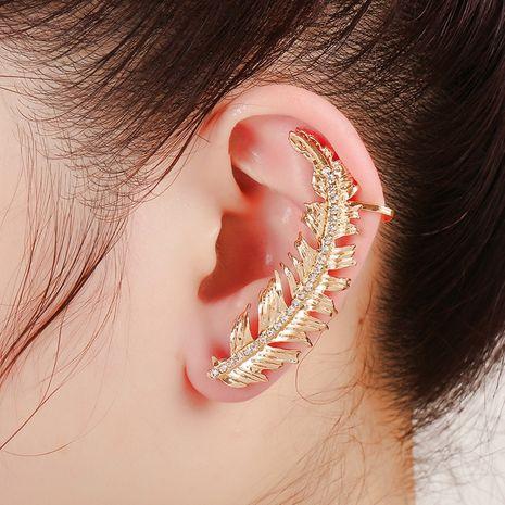 clip d'oreille feuille créative en alliage de diamant NHYE281818's discount tags