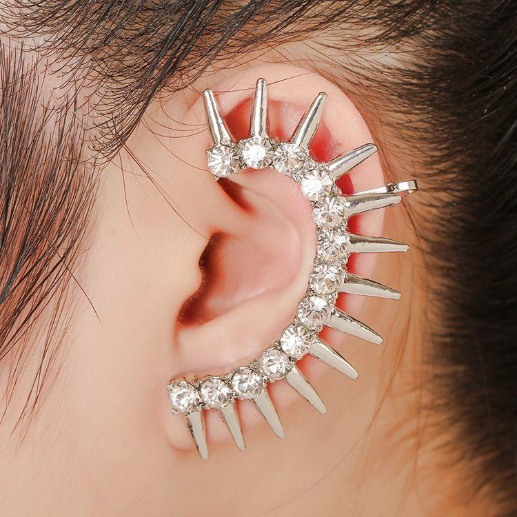 fashion punk alloy diamond rivet ear clips NHYE281826