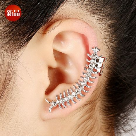 exaggerated centipede shaped full diamond ear clip bone  NHYE281827's discount tags