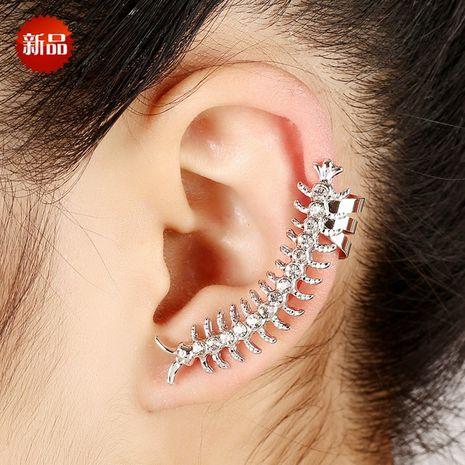 Clip d'oreille en diamant en forme de mille-pattes exagéré en os NHYE281827's discount tags