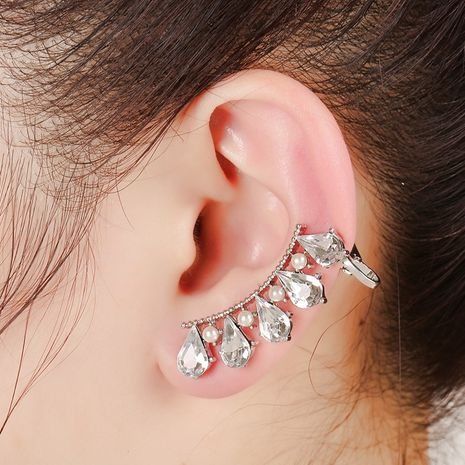 pearl zircon crystal diamond ear clip  NHYE281830's discount tags