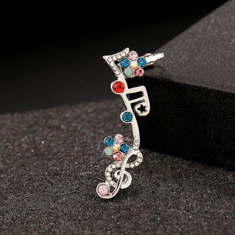 Boucles d'oreilles hypoallergéniques avec notes de musique en diamant coloré NHYE281833's discount tags