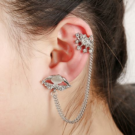 tassel crystal crown lip print earrings NHYE281834's discount tags