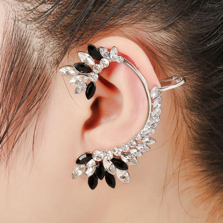 crystal black diamond earrings NHYE281835