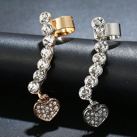 Pendentif coeur en cristal avec clip d'oreille en zircon NHYE281841's discount tags